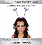 Glitter Hearts Head Boppers
