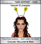 Heart Flowers Head Boppers